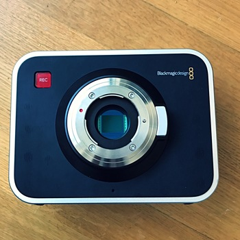 Rent Blackmagic Design Cinema Camera 2.5K (MFT) with SSD card, battery pack and dock