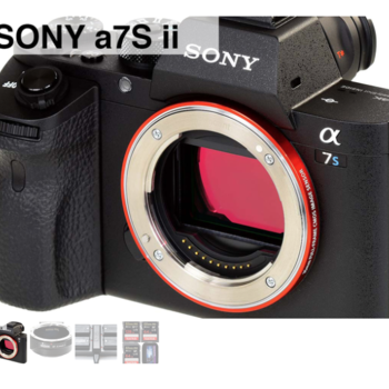 Rent Sony a7S ii 4K w/Metabones EF-E, Batt Grip & Card Package P1 (4 Available)