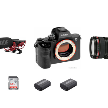 Rent Sony A7S II, Canon Zoom Lens, Rode Video Mic.