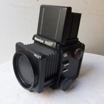 Rent Mamiya RZ67 Pro II camera body with focusing hood