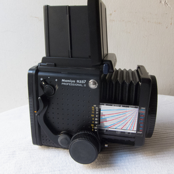 Rent KIT of Mamiya RZ67 Pro II  film camera  with either 90 mm F 3.5 or 150 / F 3.5mm lens plus 2 Mags