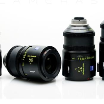 Rent Zeiss Master Anamorphic Lenses - 4 Lens Set