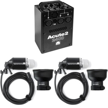 Rent Profoto Acute 2 Head and 1200 Watt Power Pack Kit *Zoom Reflectors not Included*