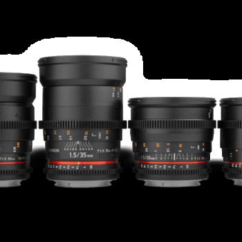 Rent Rokinon Cine Lenses Set 24, 35, 50, 85mm T1.5 EF Canon mount