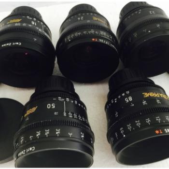 Rent Zeiss Ultra prime lenses t 1.9