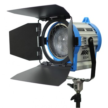 "Rent Arri Junior 650 Plus Tungsten Fresnel Light with 4.3"" Lens, 650 Watt, 120 Volts AC."