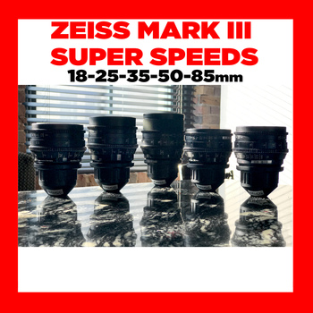 Rent Zeiss Super Speed 1.3 Mark III Lens Set