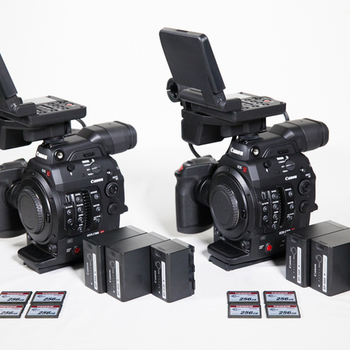 Rent (2x) Canon C300 MK II + 256gb Cards and Batteries