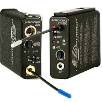 Rent Lectrosonics 100 series  wireless system (Block 21) with a TR50 lav