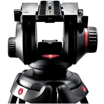 Rent Manfrotto 504HD Video Fluid Head & 535 3-Section Carbon Fiber Tripod Kit