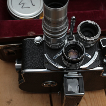 Rent Bolex 16mm reflex with turret 3-lens, case & filters