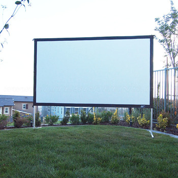 """Rent 135"""" 16:9 Rear Projection Screen With Frame"""
