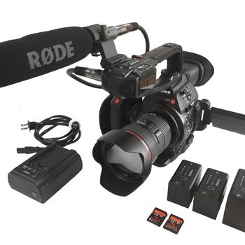 Rent Canon C100 Mk II Package - 24-70mm Lens, Tripod, Mic, Media