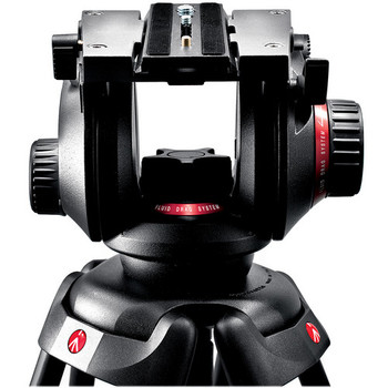 Rent Manfrotto 504HD Fluid Video Head tripod with Miller Solo Carbon legs