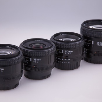 Rent Nikon Nikkor Lens Kit 24, 35, 50, 85mm