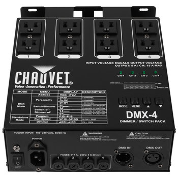 Rent Four Channel DMX Dimer Pack