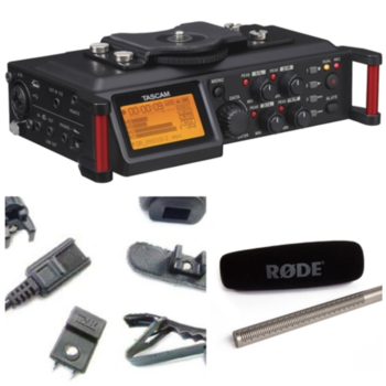Rent Interview Audio Kit: Rode Shotgun, Tram Lav, and Tascam 70D