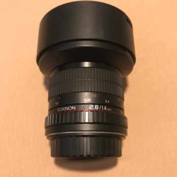 Rent Rokinon AF 14mm f2.8 w/Canon EF Mount