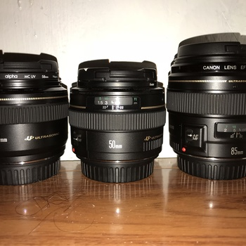 Rent Canon ULTRASONIC Prime Lens Kit: 28mm, 50mm, 85mm