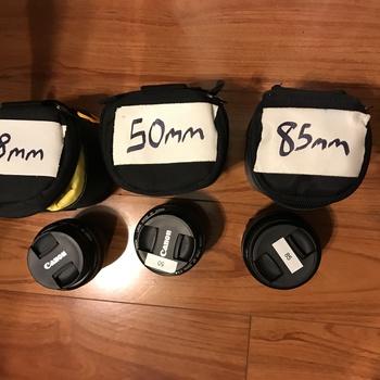 Rent Canon ULTRASONIC Prime Lens Kit: 28mm, 50mm, 85mm