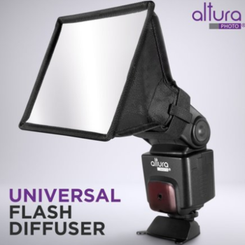 "Rent Flash Diffuser Light Softbox 6""x5"" for Nikon & Canon Flashes"