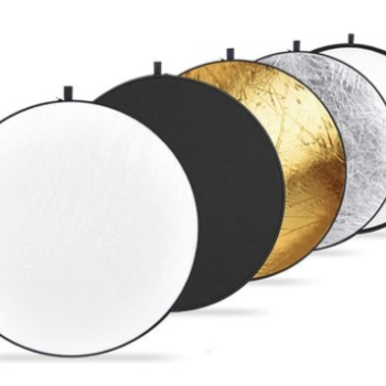 "Rent 43"" 5-in-1 Collapsible Reflector: Silver, Gold, Xlucent, B+W"