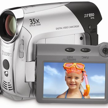 Rent Canon ZR850 1MP MiniDV Camcorder with 35x Optical Zoom