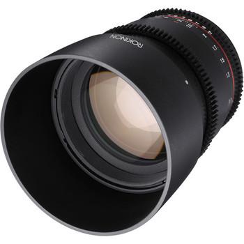 Rent 85mm Samyang/Rokinon Cine lens with EF mount.
