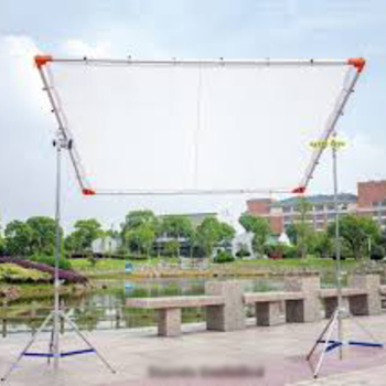 Rent 8' x 8' Butterfly kit with Silk, silent grid cloth, solid/grey and C-stands.