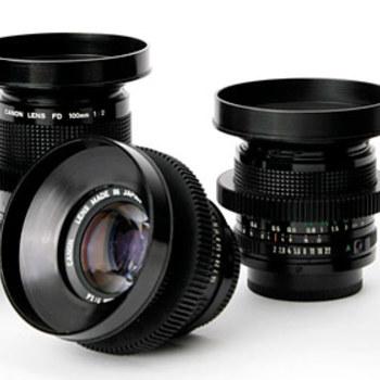 Rent Canon FD Cinema Lenses ( 6 set )  - Super Spectra Coating Mid 1970's Vintage Lenses