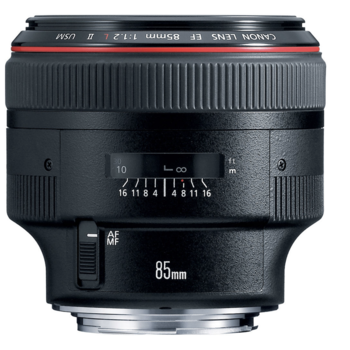 Rent Canon EF 85mm f/1.2L II USM Lens