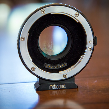 Rent Metabones Speedbooster XL .64x for Canon Full Frame EF Lenses to Micro Four-thirds Panasonic Mount cameras
