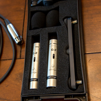 Rent Behringer C2 Dynamic condensor mics with 2 x 20 foot XLR cables - great for room tone or ambience as well as instruments