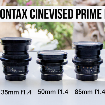 Rent 5 ZEISS CONTAX CINEVISED PRIMES w/CANON MOUNT