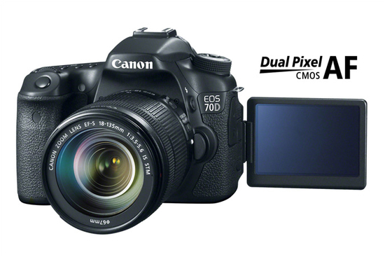 Eos 70d dslr camera dual pixel cmos af technology front d