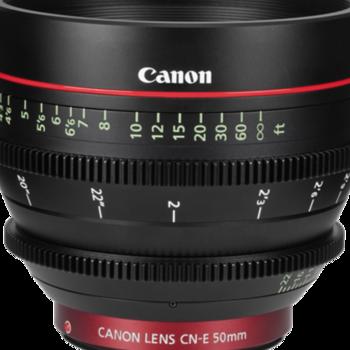 Rent Canon  CN-E 50mm T1.3