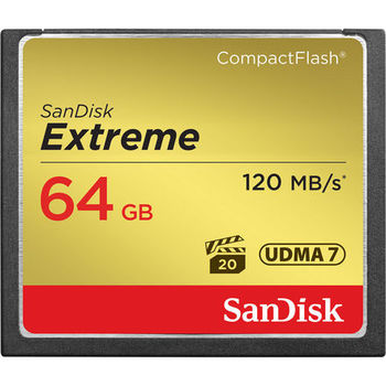 Rent 4x SanDisk 64GB Extreme CF Memory Card