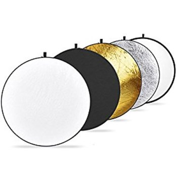 Rent Disc Light Reflectors! 5 in 1 - Translucent, Silver, Gold, White, and Black
