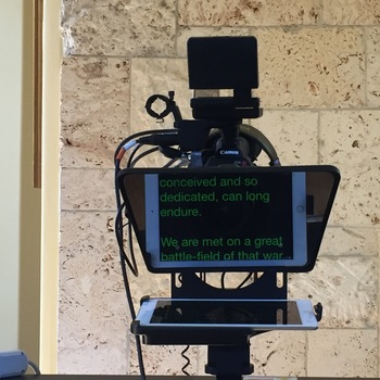 Rent iPad Teleprompter - Mounting Bracket & Glass - BYO iPad