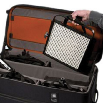 Rent Kit of (x4) 1x1 bi-color litepanels with stands, diff, gels