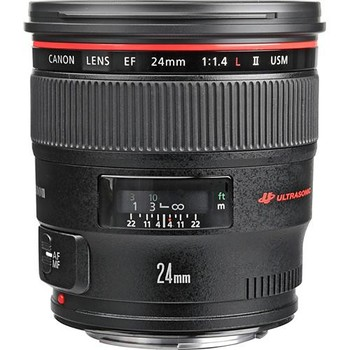Rent Canon EF 24mm f/1.4L II USM Lens w/ Case & UV Filter