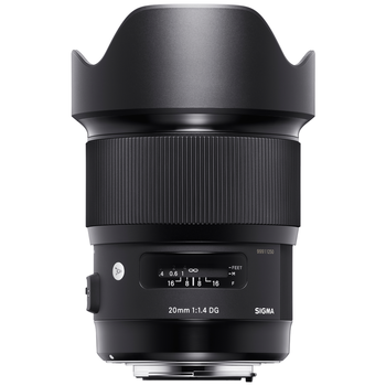 Rent SIGMA 20mm F 1.4 ART lens for Canon Eos mount!