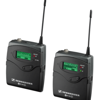 Rent Sennheiser ew-100 G2 Set (includes transmitter, receiver, lavalier mic, and xlr cable)