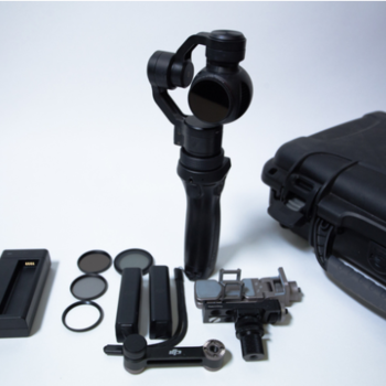 Rent DJI OSMO 4K camera Gimbal shooters pack with ND and POLA kit