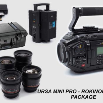 Rent URSA MINI PRO 4.6k and Rokinon Lens Package