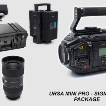 Rent URSA MINI PRO 4.6k and Sigma ART zoom Lens Package