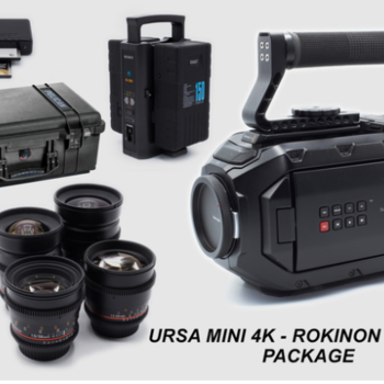 Rent Black Magic URSA Mini 4K EF Package with 4 Rokinon DS Lenses