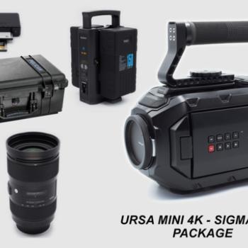 Rent Black Magic URSA Mini 4K EF Package with Sigma ART 18-35mm