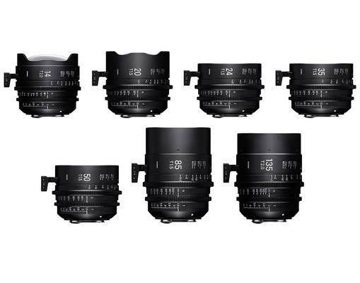 Seven prime cine lens set