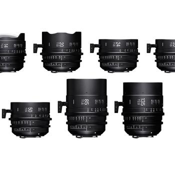 Rent Sigma Cine FF High Speed Primes PL Mount 4-Lens Choice